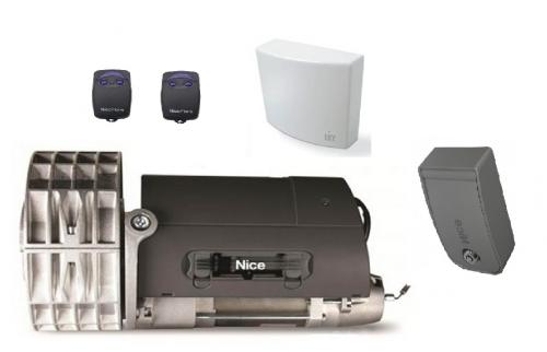 Rondo Kit composé d'une centrale MC200 et 2*Télécommandes Flo2-RS et Coffret Kio-Mini Pour rideaux métalliques équilibrés jusqu'à 170 kg